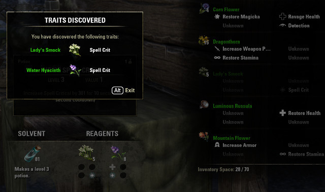 Ten ton hammer guide to elder scrolls online crafting theres one guaranteed way to unlock the first property eat the plant use it like a potion or food and you will unlock the first main property and forumfinder Choice Image