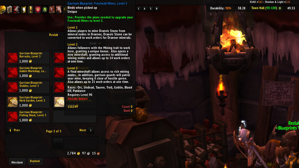 Ten ton hammer garrison guide lunarfall excavationfrostwall mines upgrading to level 3 will cost you 100 garrison resources and 500 gold the upgrade will take 1 hour malvernweather Image collections