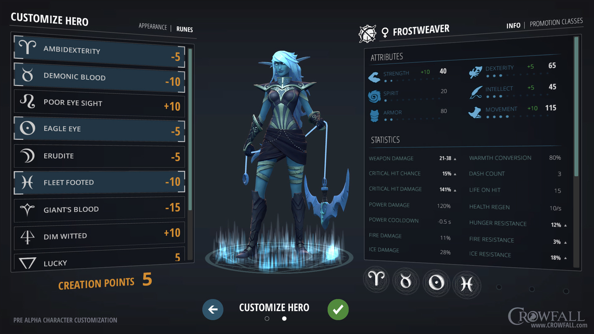 Image result for crowfall archetype creation pics