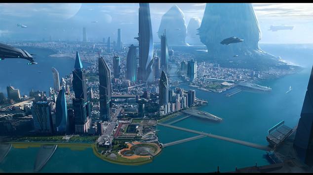 Star citizen cityscape