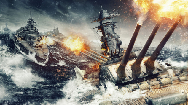 Wows artwork sea fight