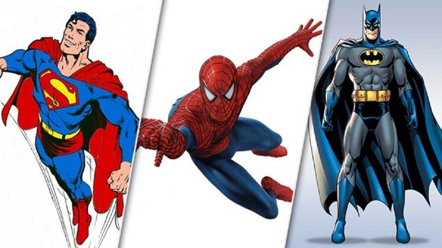 Batman spiderman superman