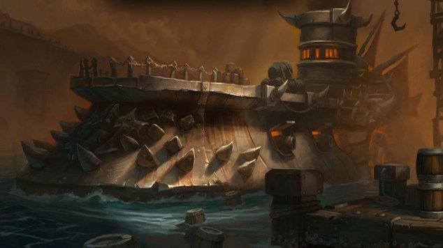 Iron dock banner