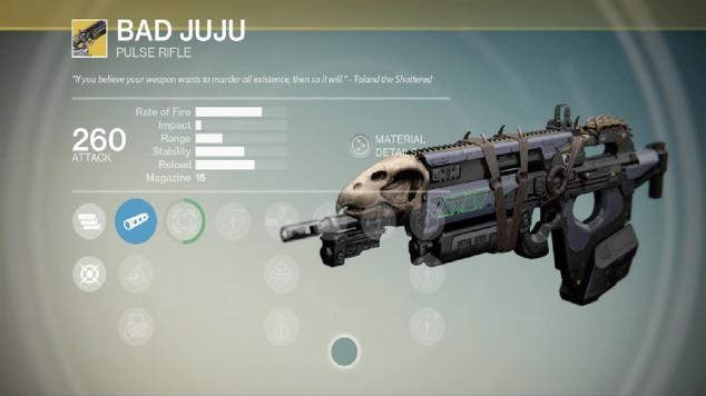 Bad juju pulse rifle destiny