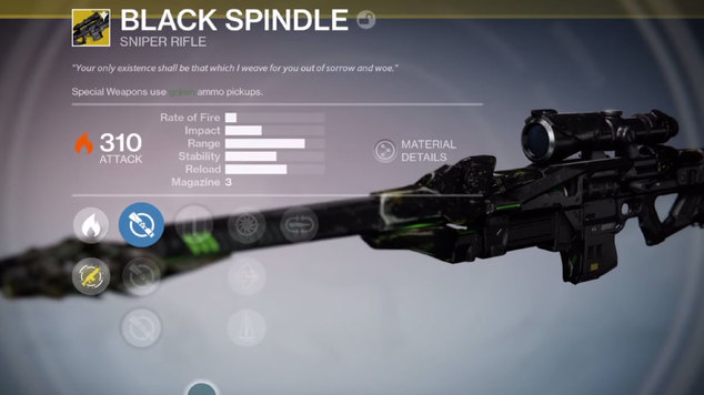 Black spindle exotic sniper destiny