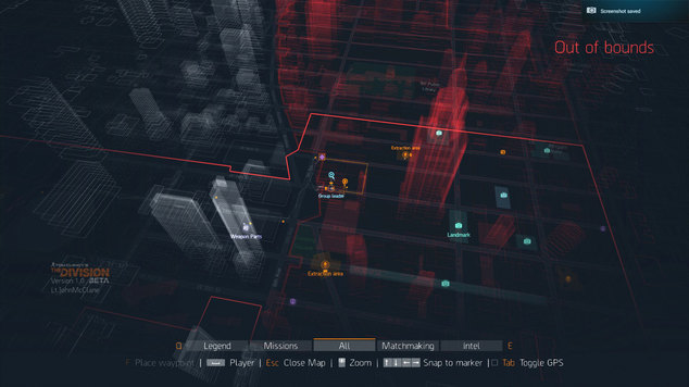 Division dark zone map