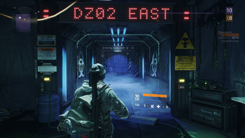 Division dark zone door