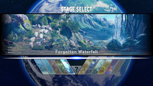 Street fighter stage select
