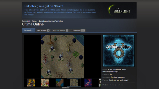 Steam greenlight uo