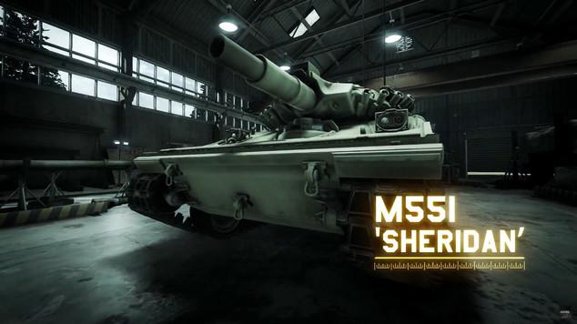 Armored warfare m551 sheridan tank